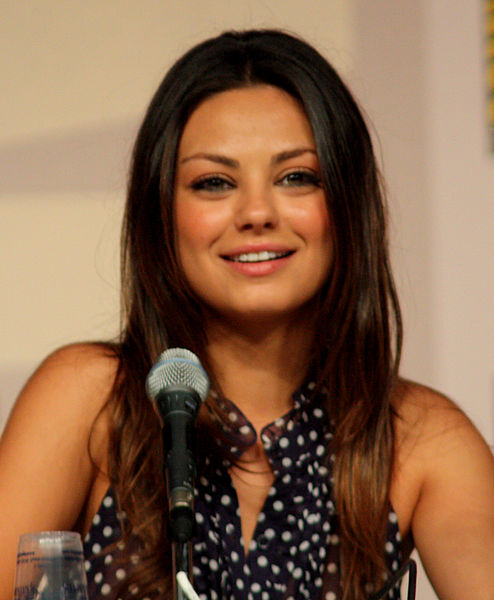 Mila Kunis as Rebecca Ruelle (photo credit: Gage Skidmore via wikipedia)